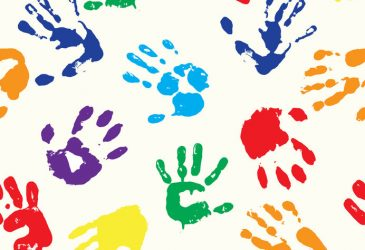 EPS 10 vector multicolored  fingerprints with the colors of rainbow